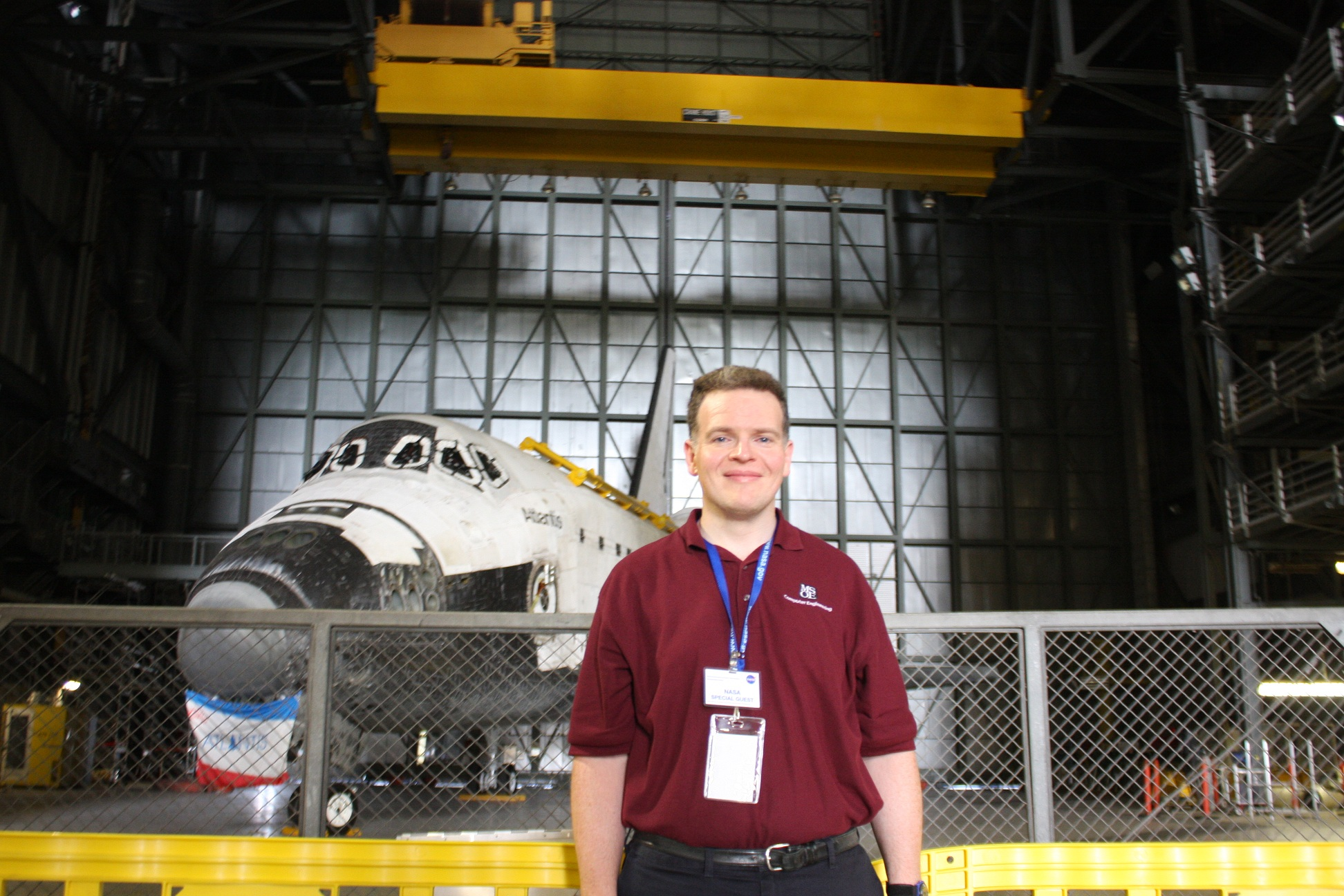 Dr. Walter Schilling at Kennedy Space Center.
